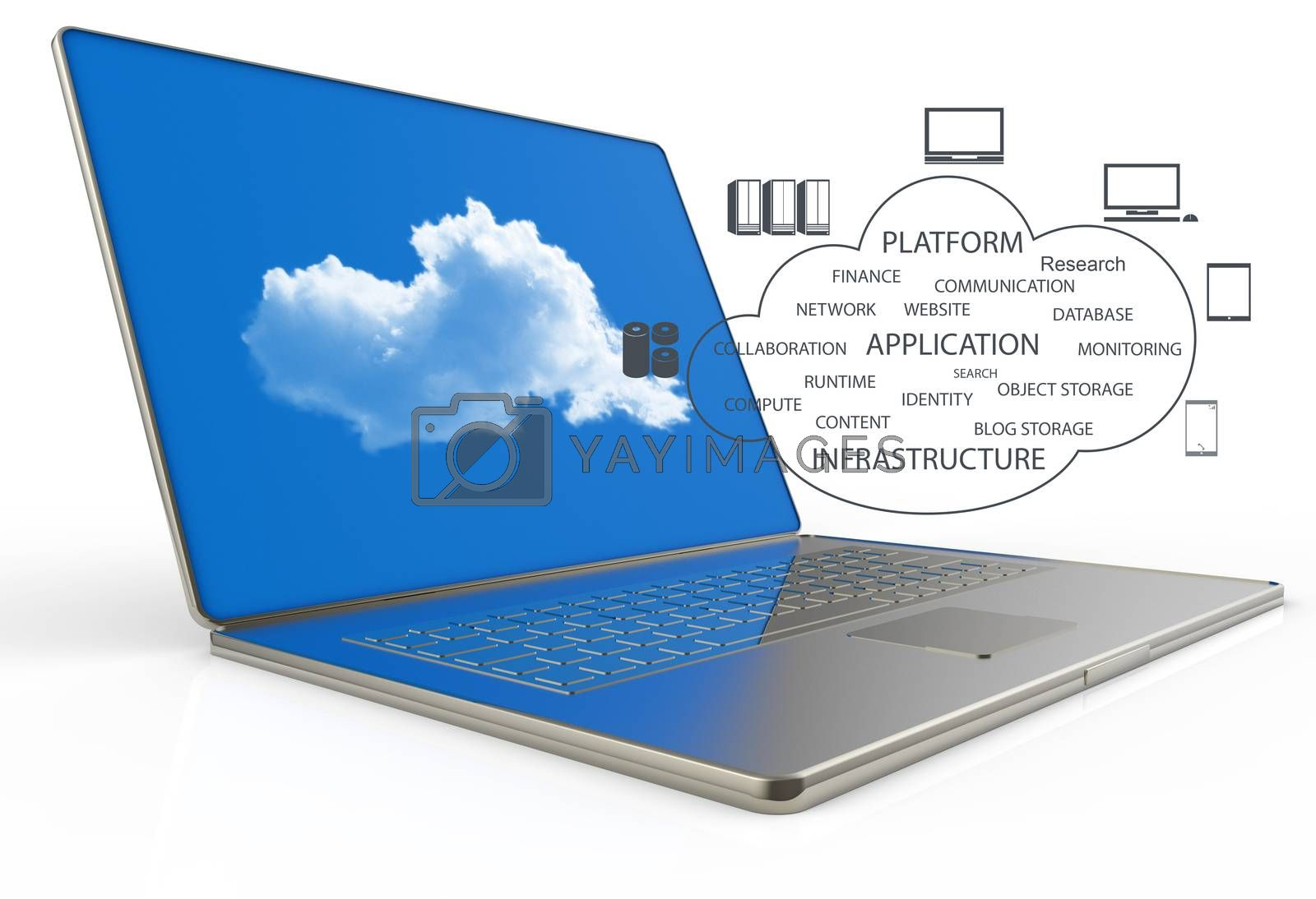 Royalty free image of Cloud computing concept by everythingpossible