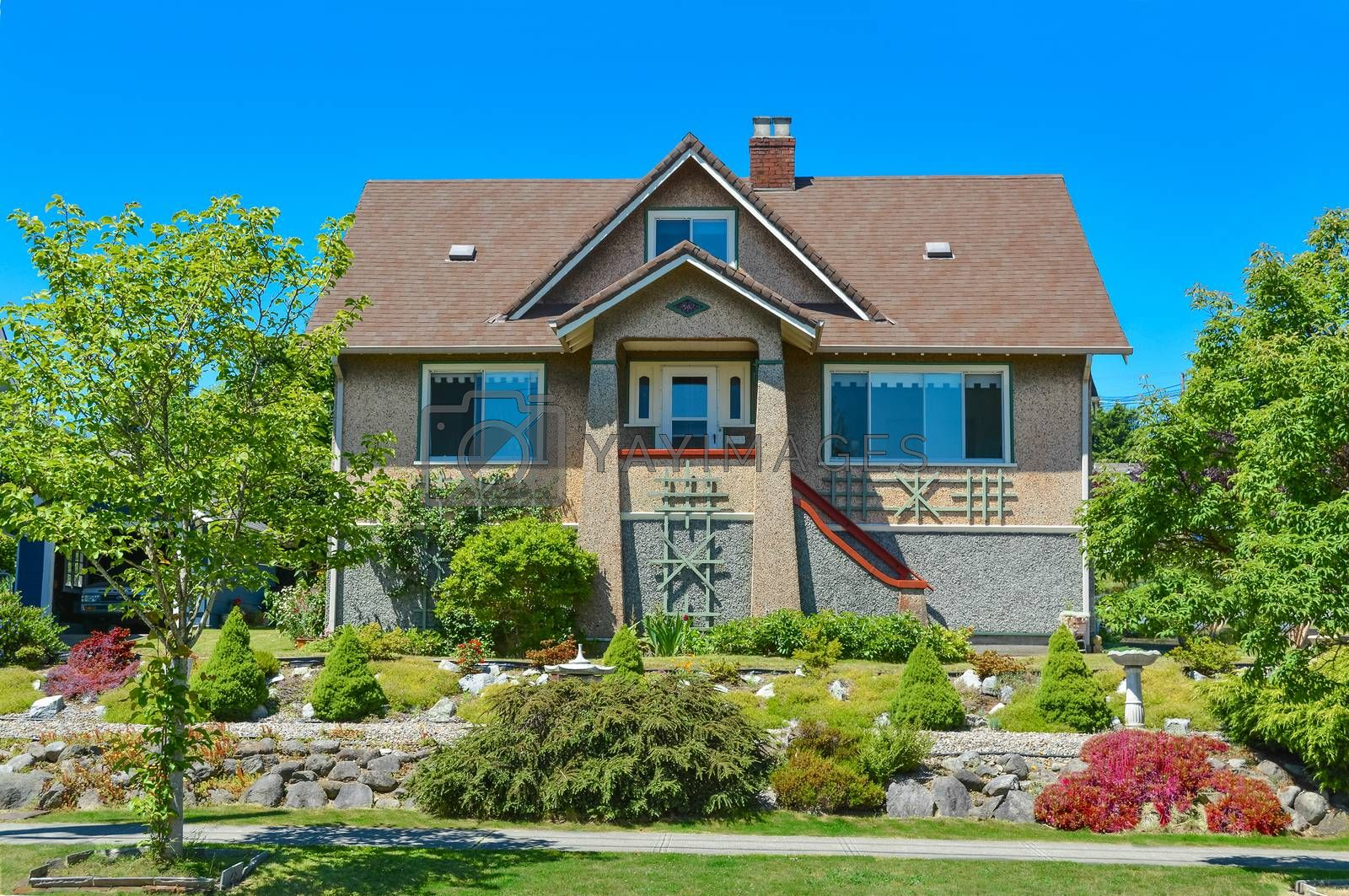 Royalty free image of Average north american house in suburbs of Vancouver. by Imagenet