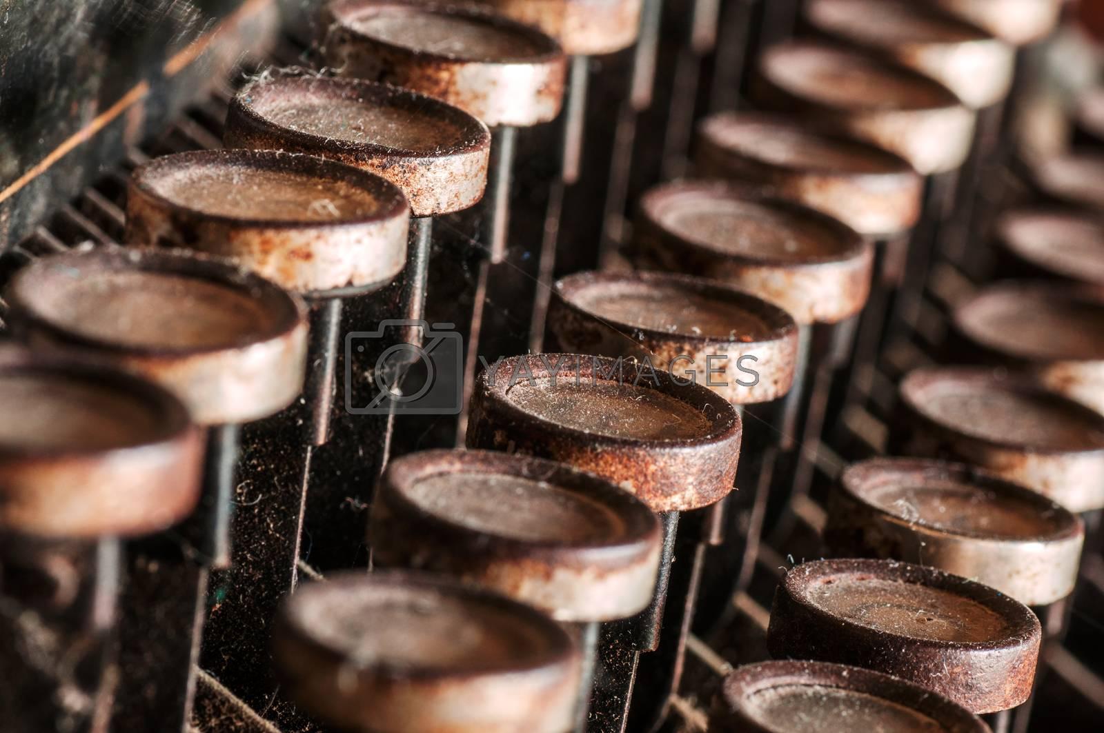 Royalty free image of Close up of old vintage manual typewriter by IxMaster