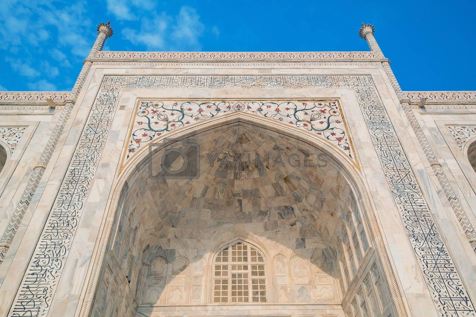Royalty free image of Taj Mahal on a sunny day. by Tanarch