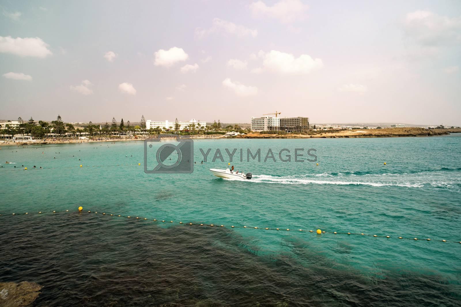 Royalty free image of Beautiful bay sailing boats, Menorca island, Spain by diy13