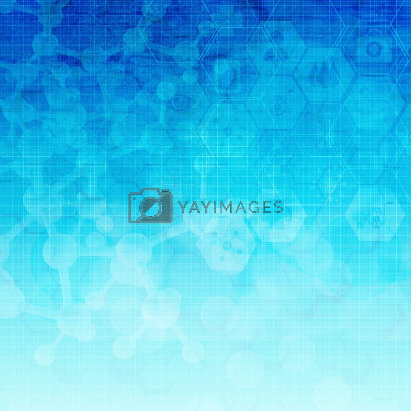 Royalty free image of Abstract metal  molecules medical background  by everythingpossible