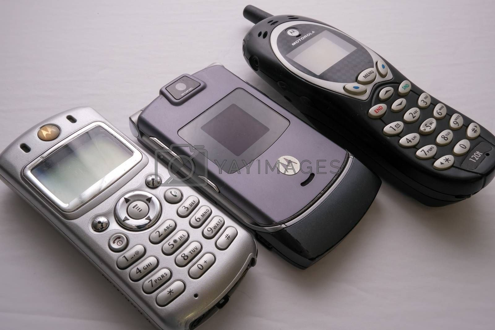 Royalty free image of Motorola Cell Phones from Early 2000s by colintemple
