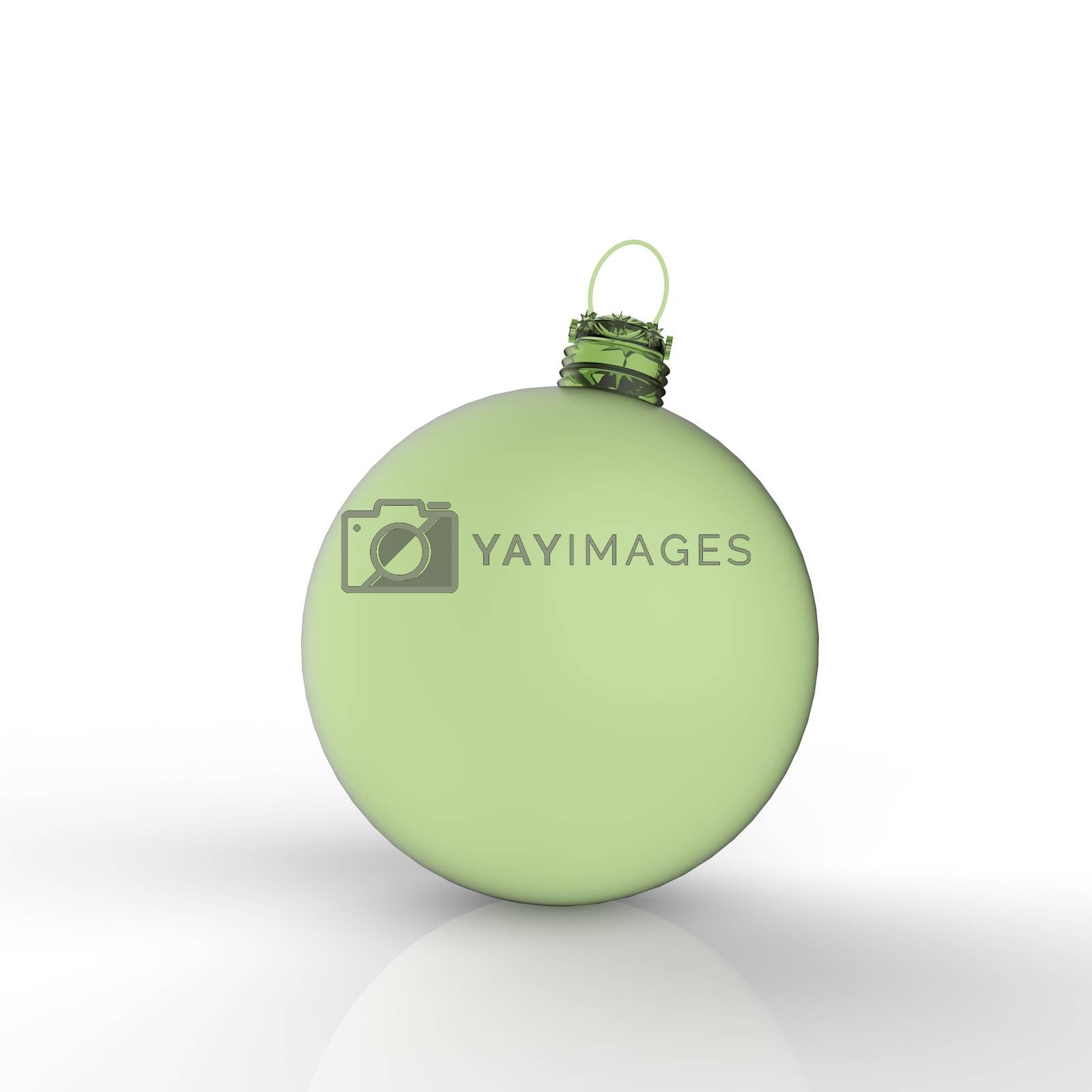 Royalty free image of 3d Christmas ball ornaments on white background  by everythingpossible