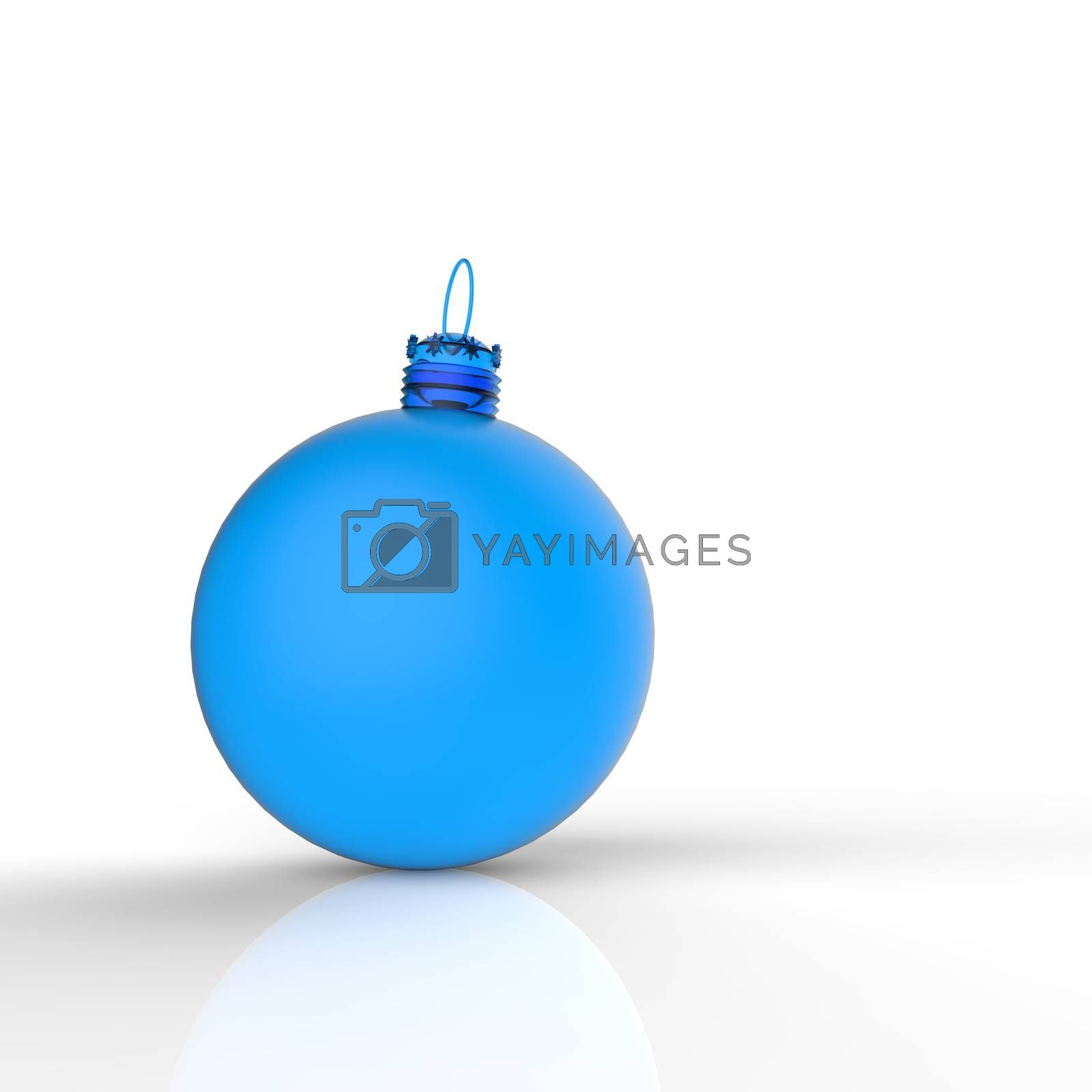 Royalty free image of Christmas ball ornaments on white background by everythingpossible