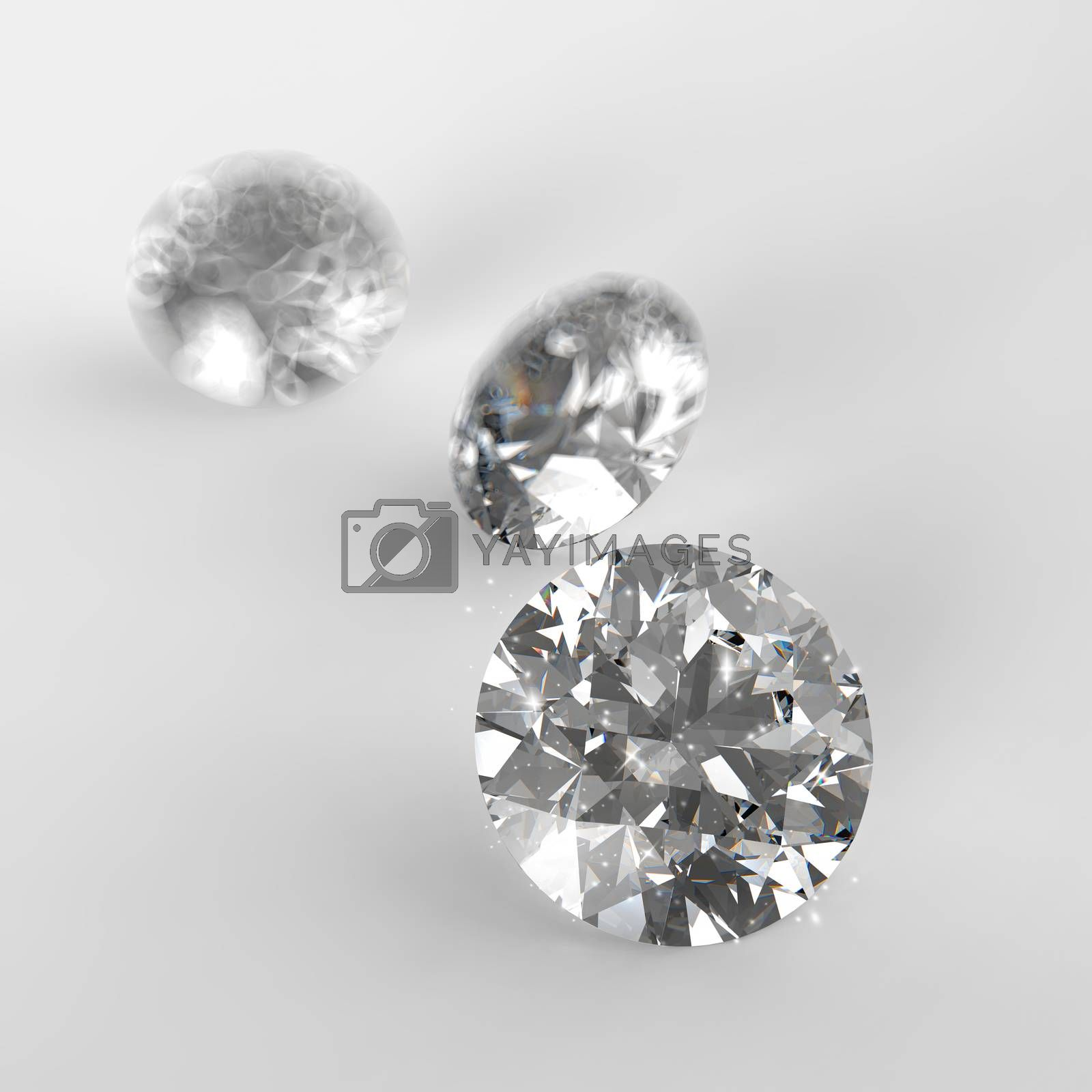 Royalty free image of Diamonds 3d composition on white background by everythingpossible