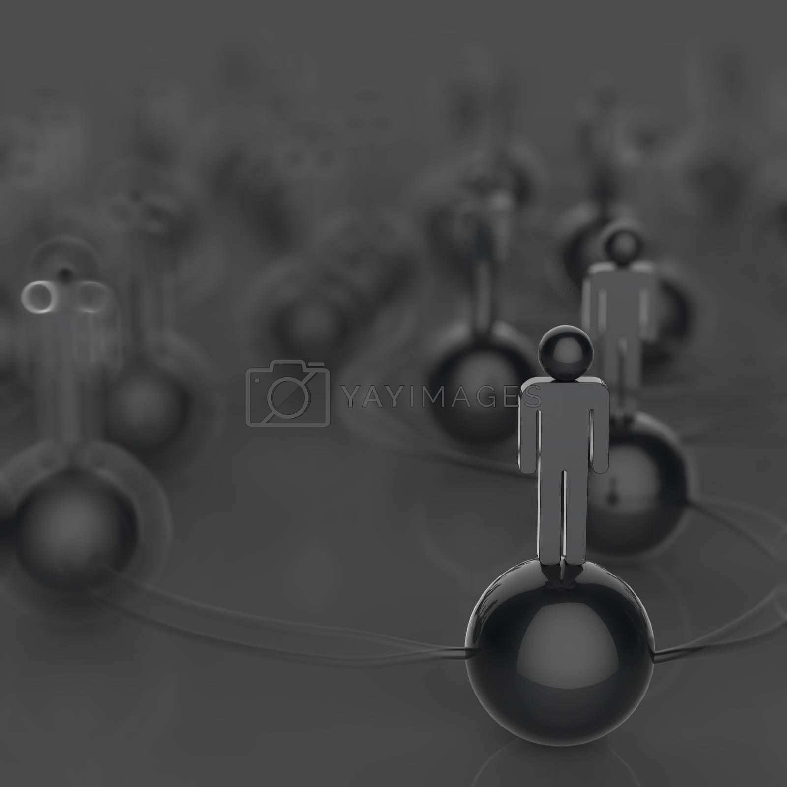 Royalty free image of 3d human social network and leadership as concept by everythingpossible
