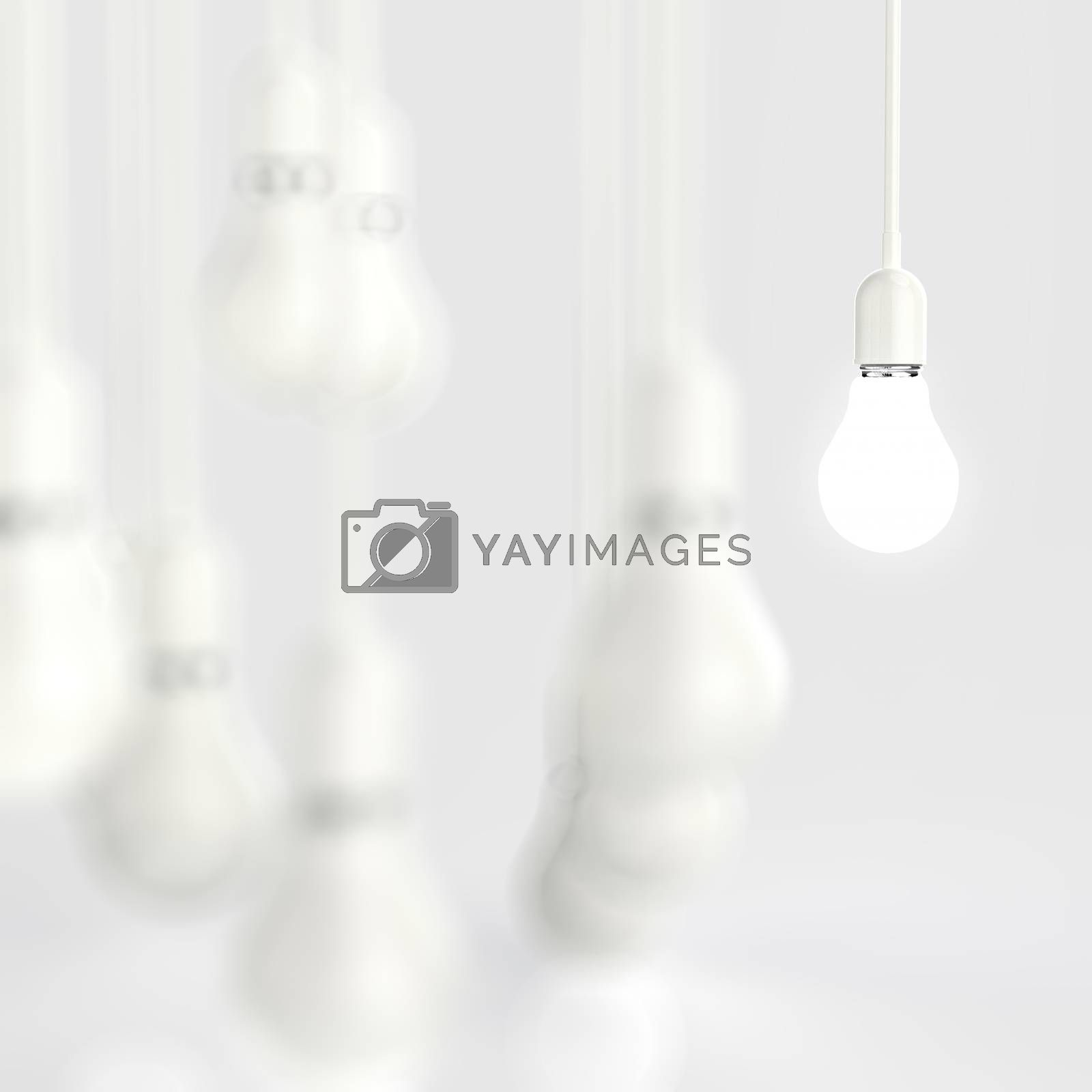 Royalty free image of creative idea and leadership concept light bulb  by everythingpossible