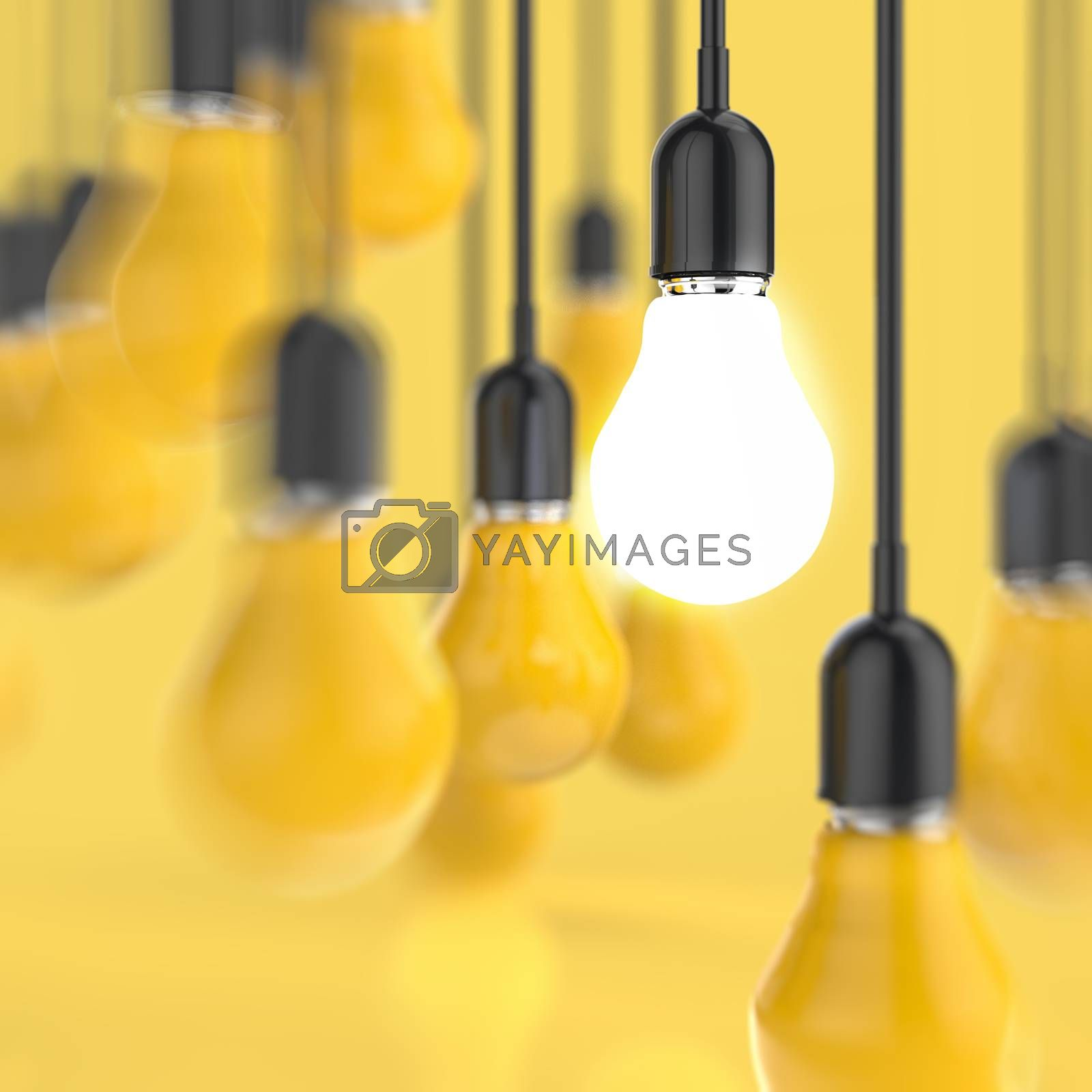 Royalty free image of creative idea and leadership concept  by everythingpossible