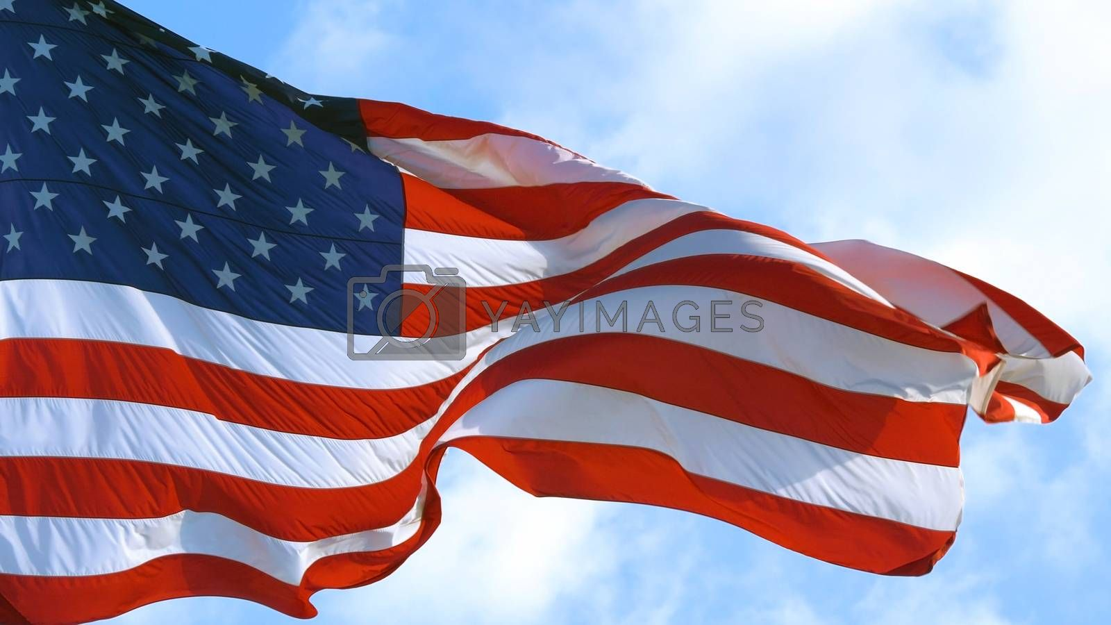Royalty free image of USA American Flag Waving by Sid10