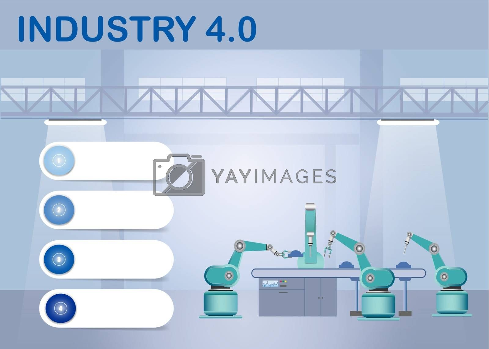 Royalty free image of Industry 4.0 Smart factory infographics by Frank11