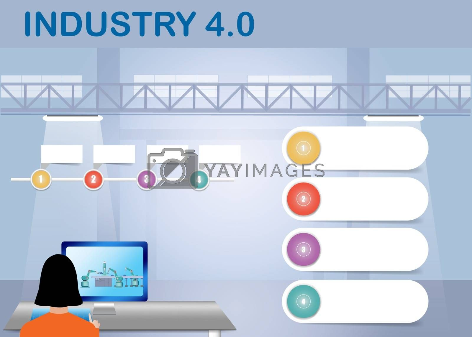 Royalty free image of Industrial concept of 4.0 smart factory control  by Frank11