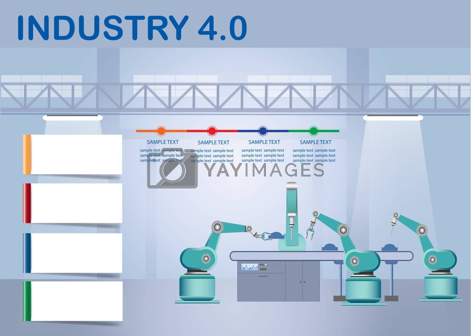 Royalty free image of Infographic of industry 4.0 factory  by Frank11