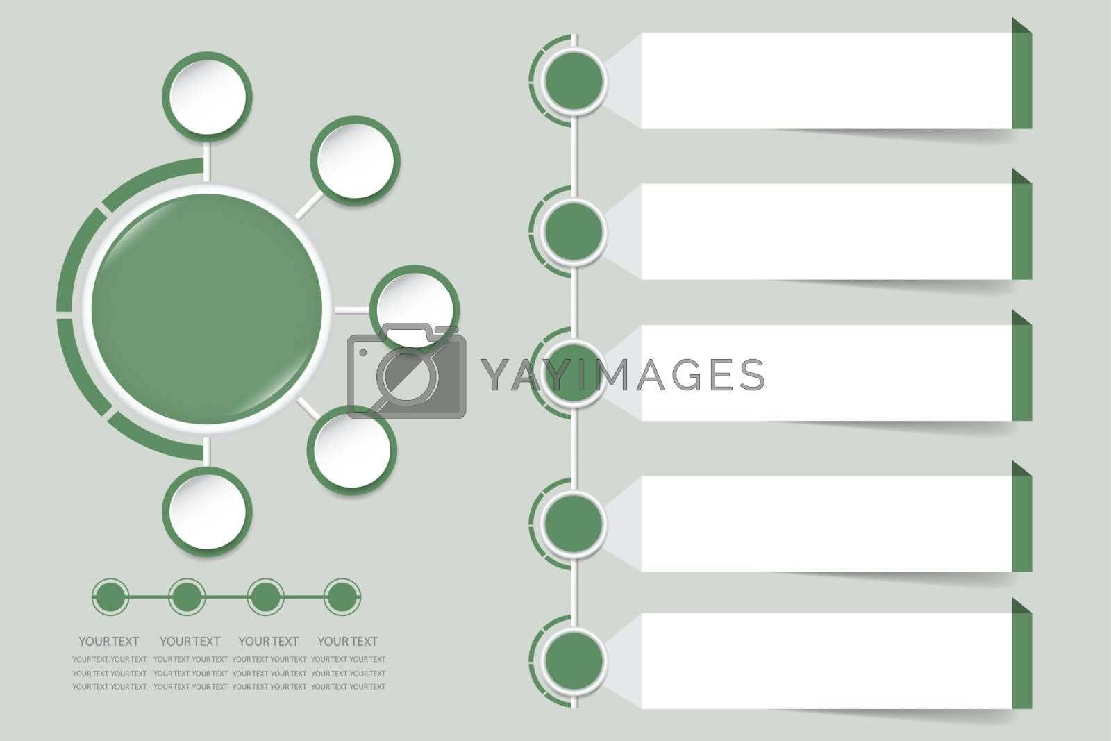 Royalty free image of Modern infographic vector in faded shade of green color  by Frank11