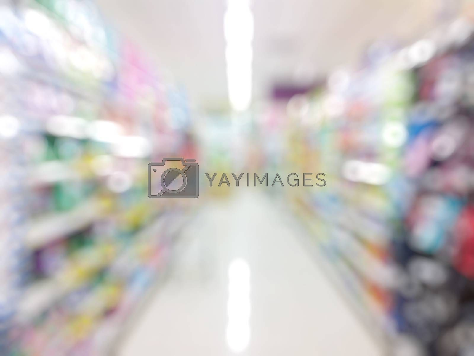 Royalty free image of supermarket with blurred bokeh background by everythingpossible