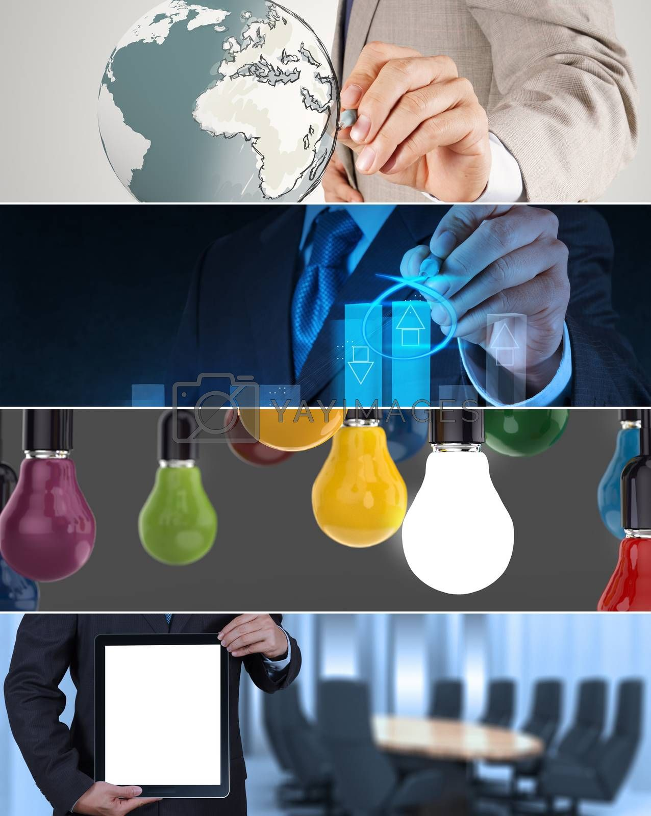 Royalty free image of Collage of photo business strategy as concept  by everythingpossible