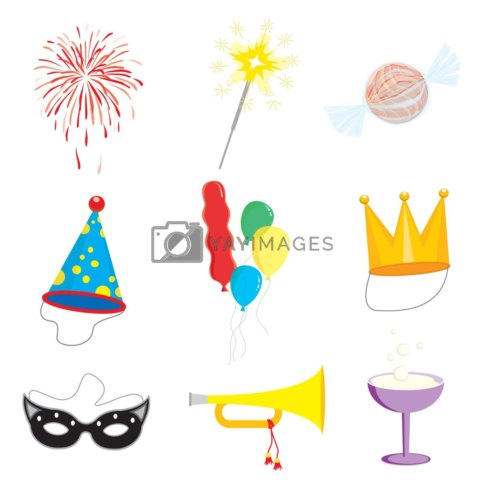 Royalty free image of Birthday and Party Celebration object icon vector by Ienjoyeverytime