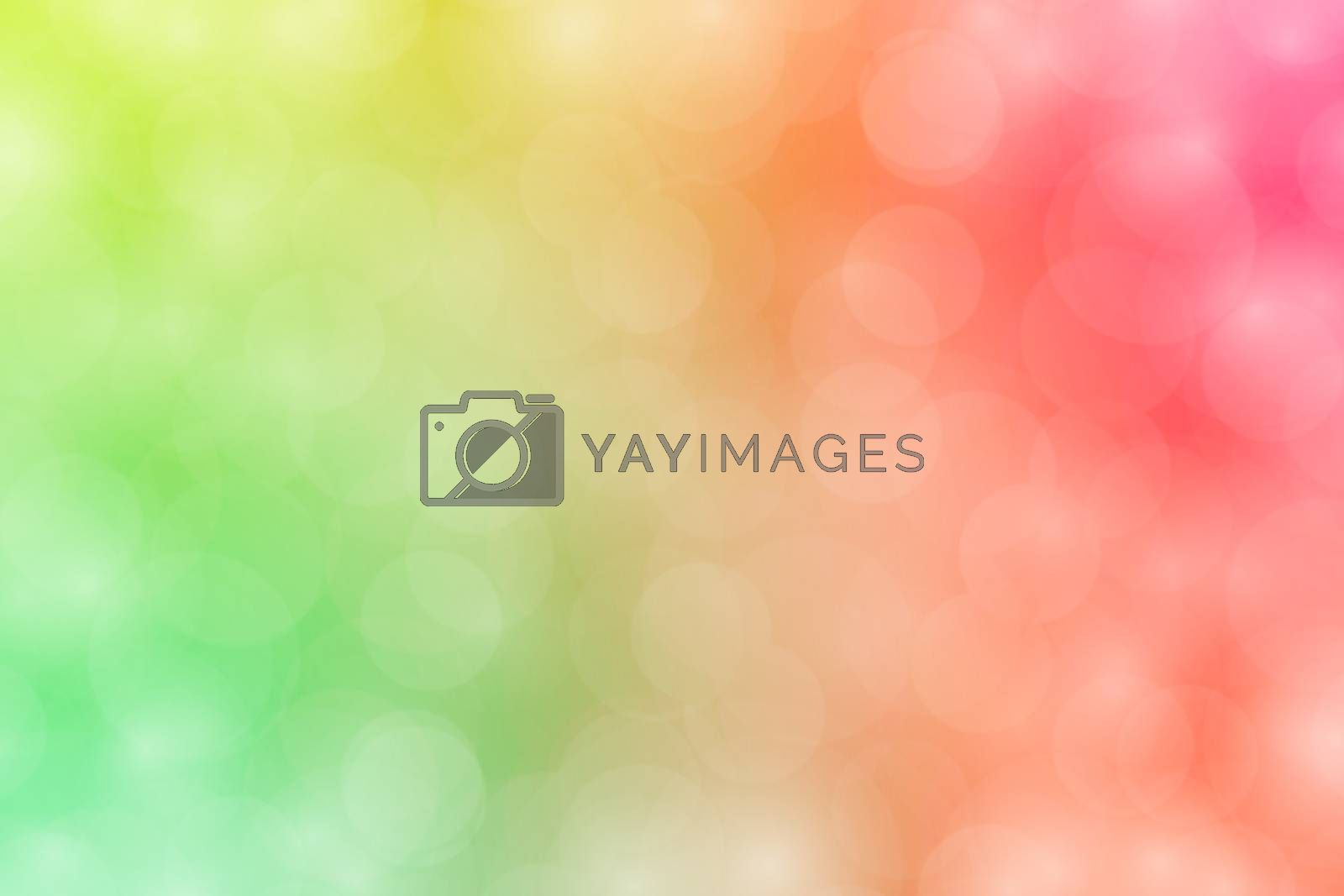 Royalty free image of colorful bokeh lights gradient blurred soft, sweet color bokeh wallpaper colorful shade, rainbow colors bokeh lighting for background by cgdeaw