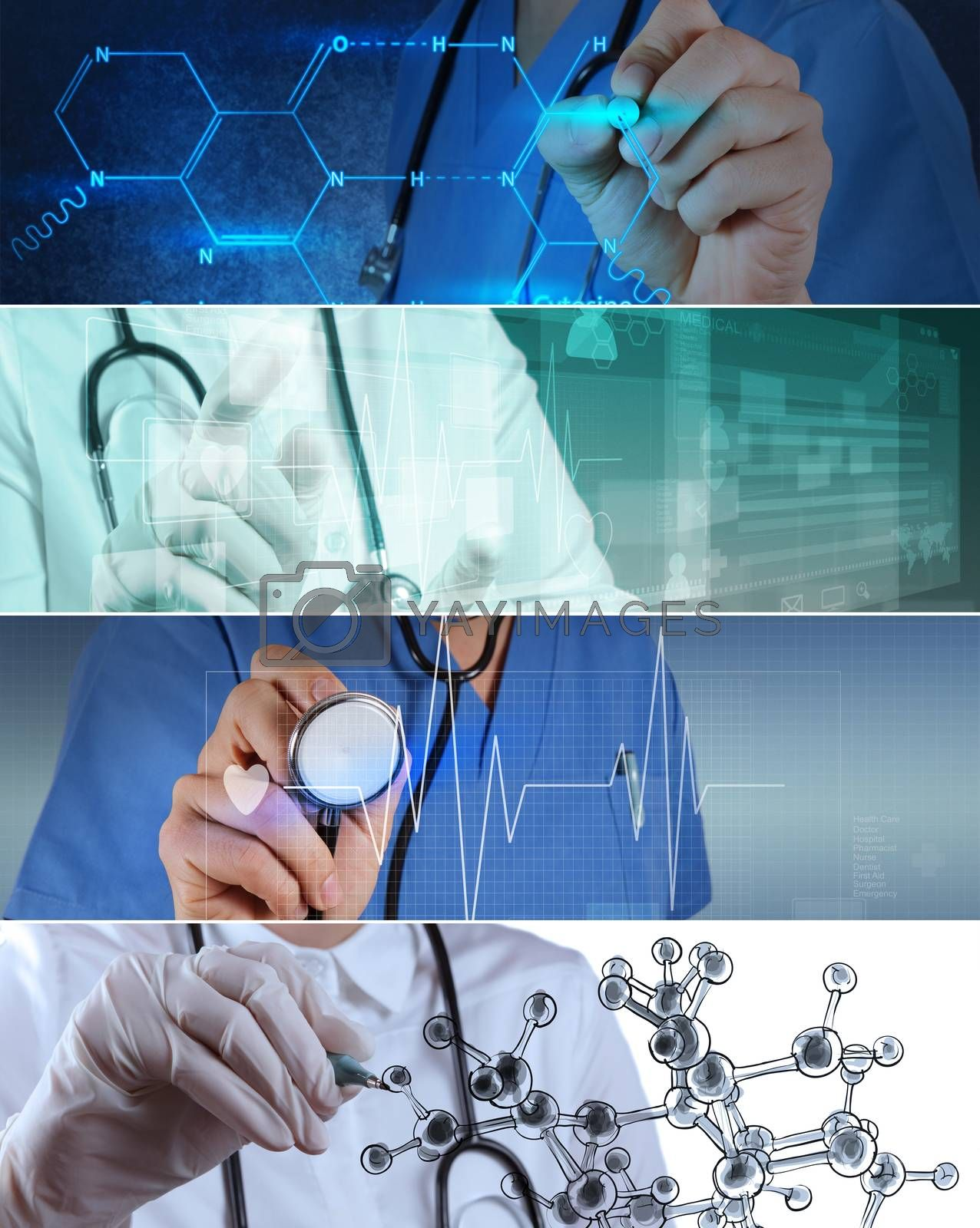 Royalty free image of Collage of Various modern medical concept by everythingpossible