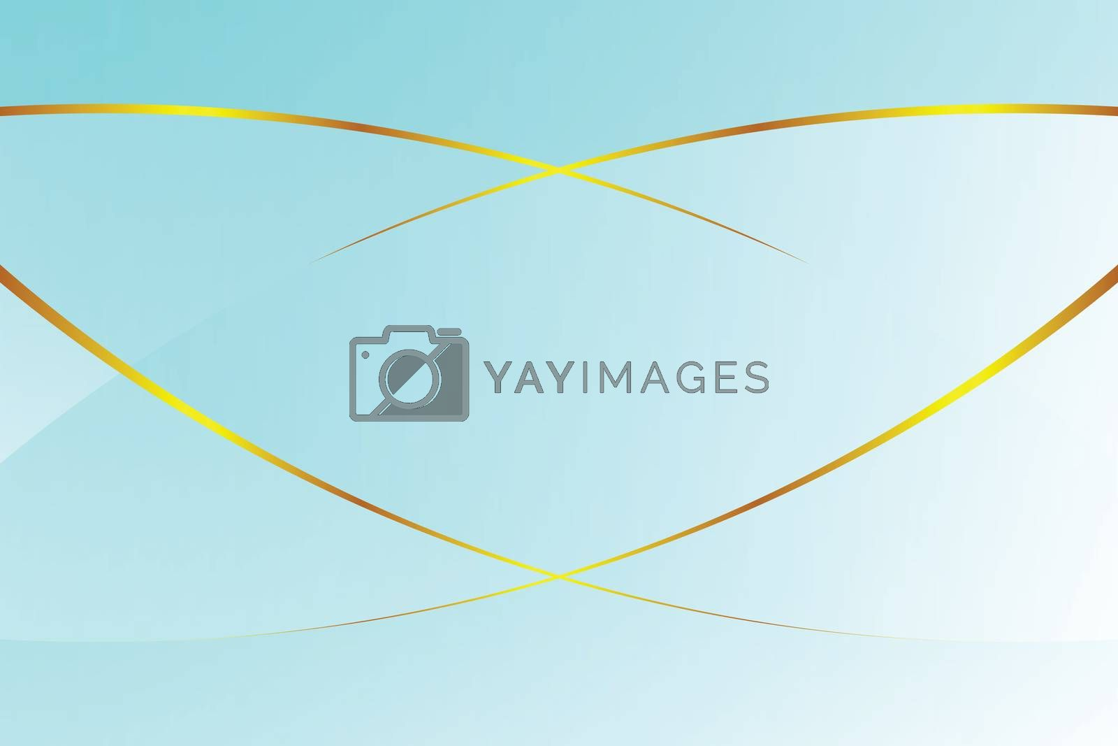 Royalty free image of blue light gradient color soft light and golden line graphic for cosmetics banner advertising luxury modern background (illustration) by cgdeaw