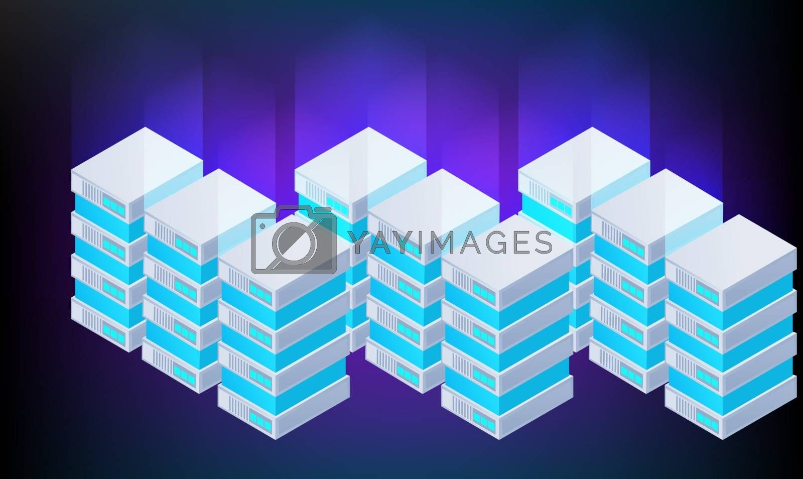 Royalty free image of digital textile design of boxes on abstract background by aanavcreationsplus