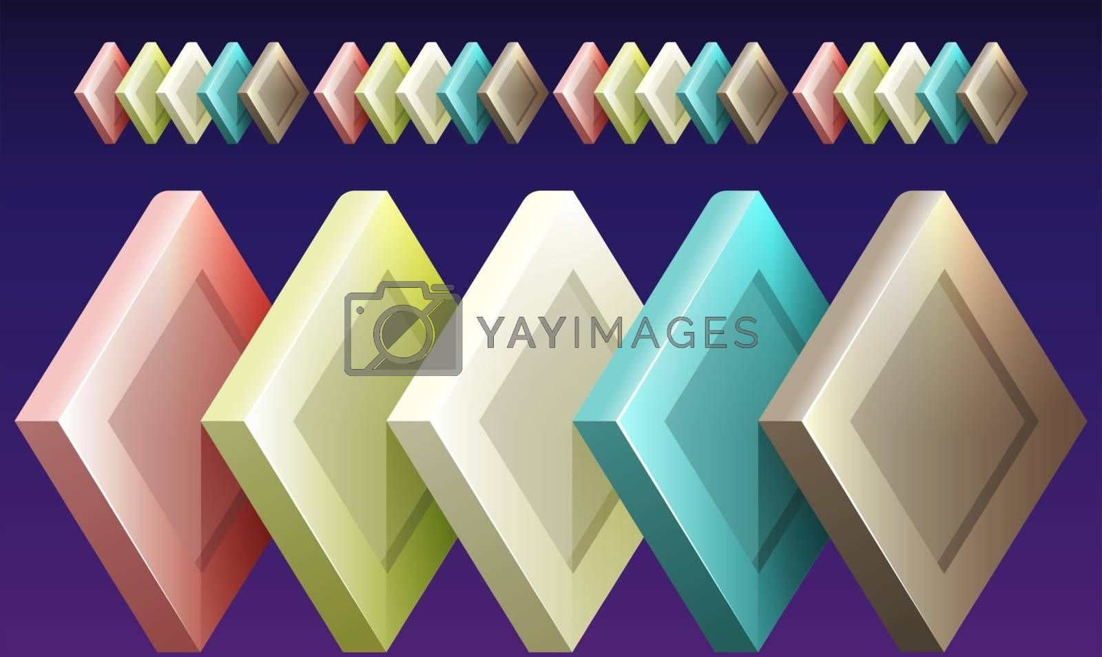 Royalty free image of digital textile design of diamond boxes on abstract background by aanavcreationsplus
