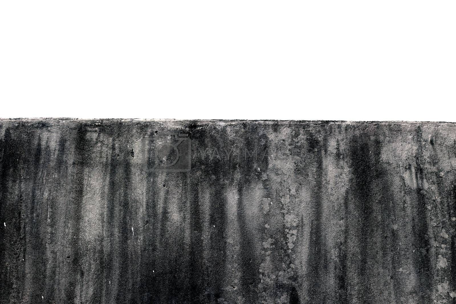 Royalty free image of wall surrounding Texture of the gray polished concrete wall with scratches on white background by cgdeaw