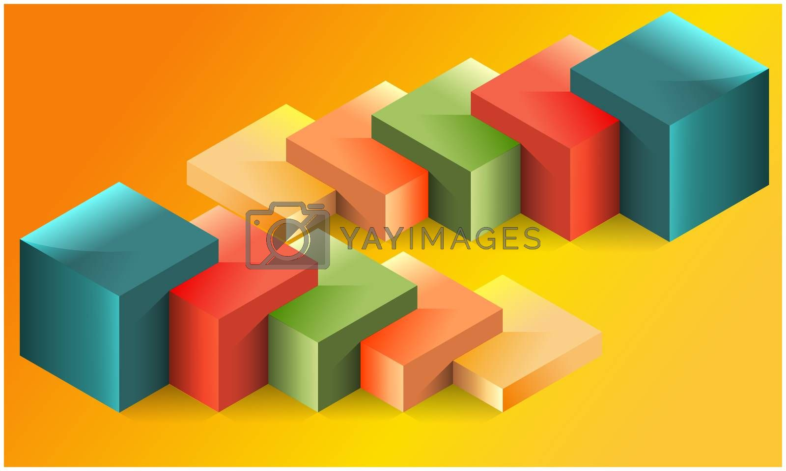 Royalty free image of digital textile design of inserted boxes on abstract background by aanavcreationsplus