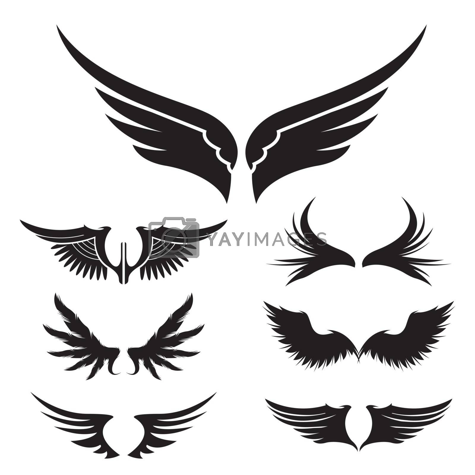 Royalty free image of Set of Wing Simple logo or sign icon element Vector illustration. by Ienjoyeverytime