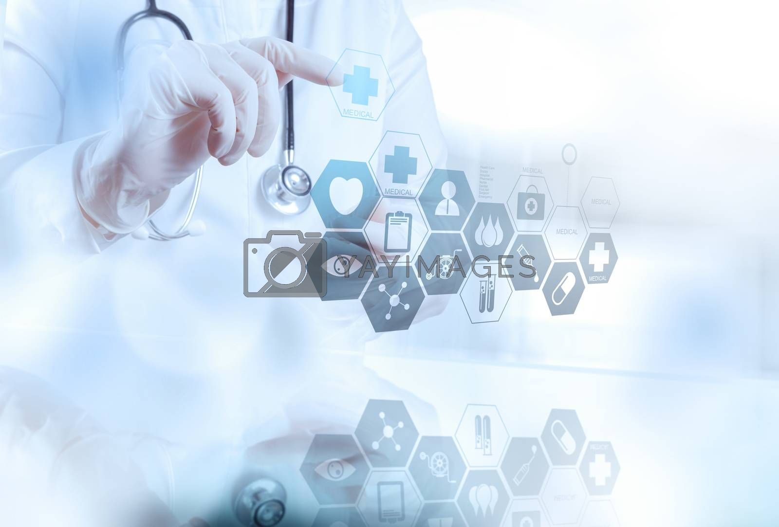 Royalty free image of smart medical doctor working with operating room as concept  by everythingpossible