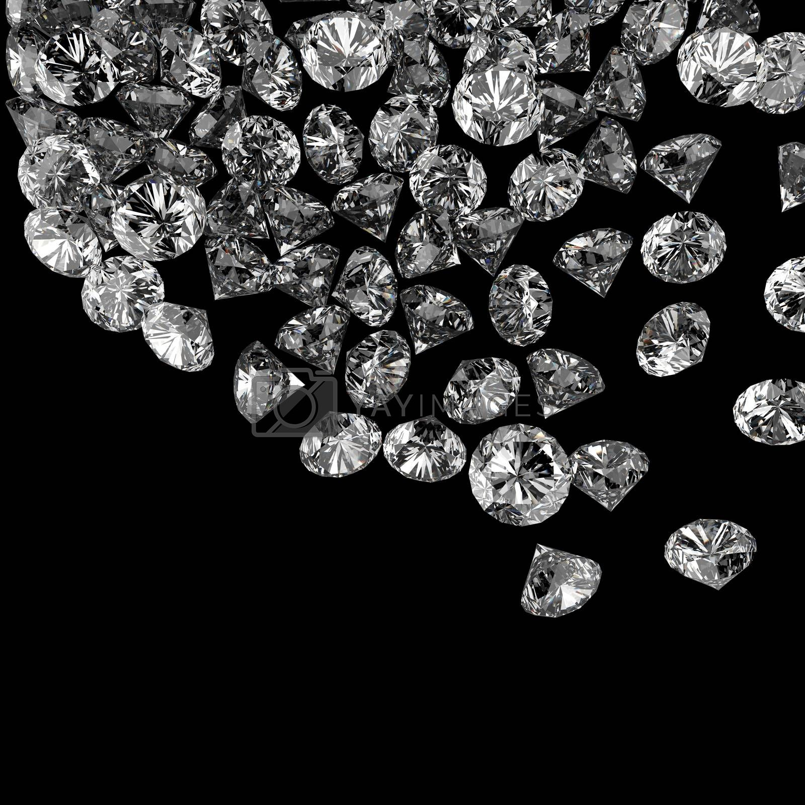 Royalty free image of Diamonds 3d in composition as concept  by everythingpossible