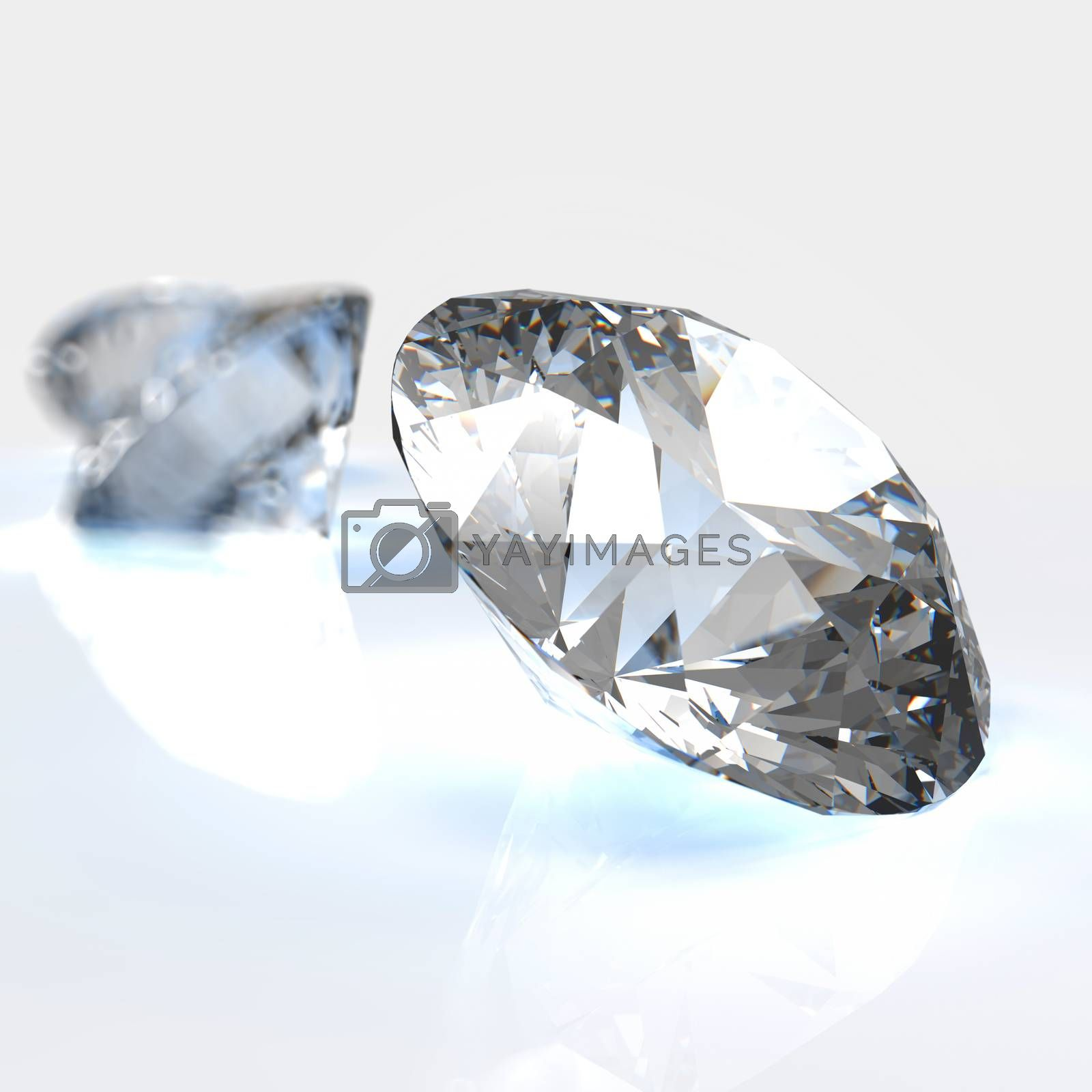 Royalty free image of Diamonds  on white background  by everythingpossible