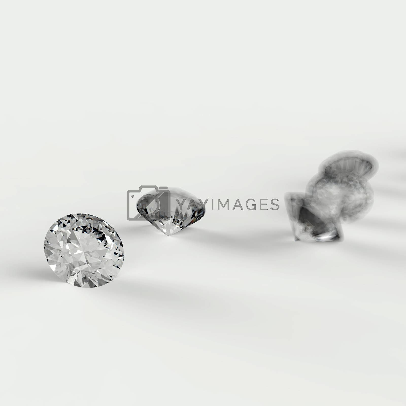 Royalty free image of Diamonds 3d in composition by everythingpossible