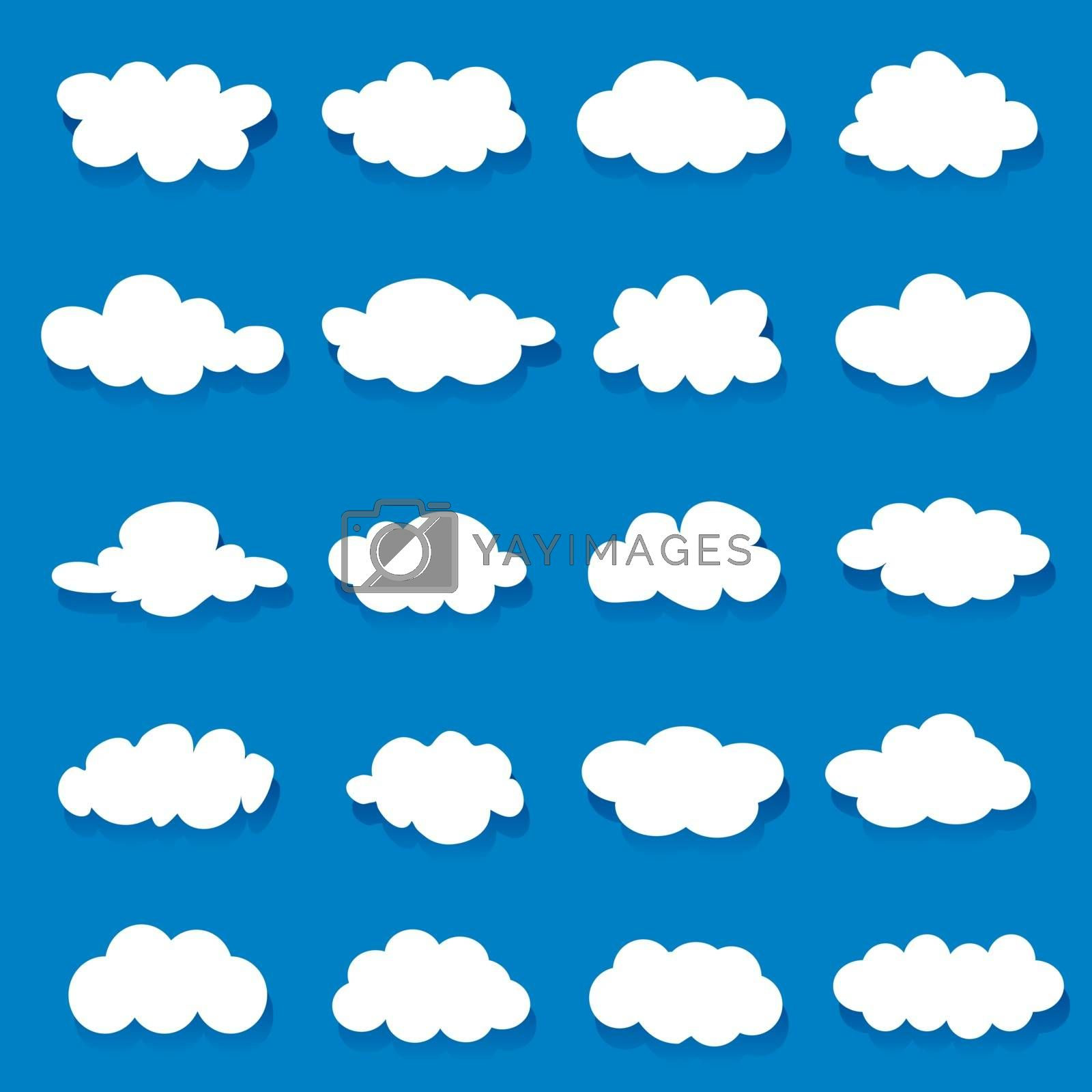 Royalty free image of Set of Cloud Shape element icon and symbol Vector by Ienjoyeverytime