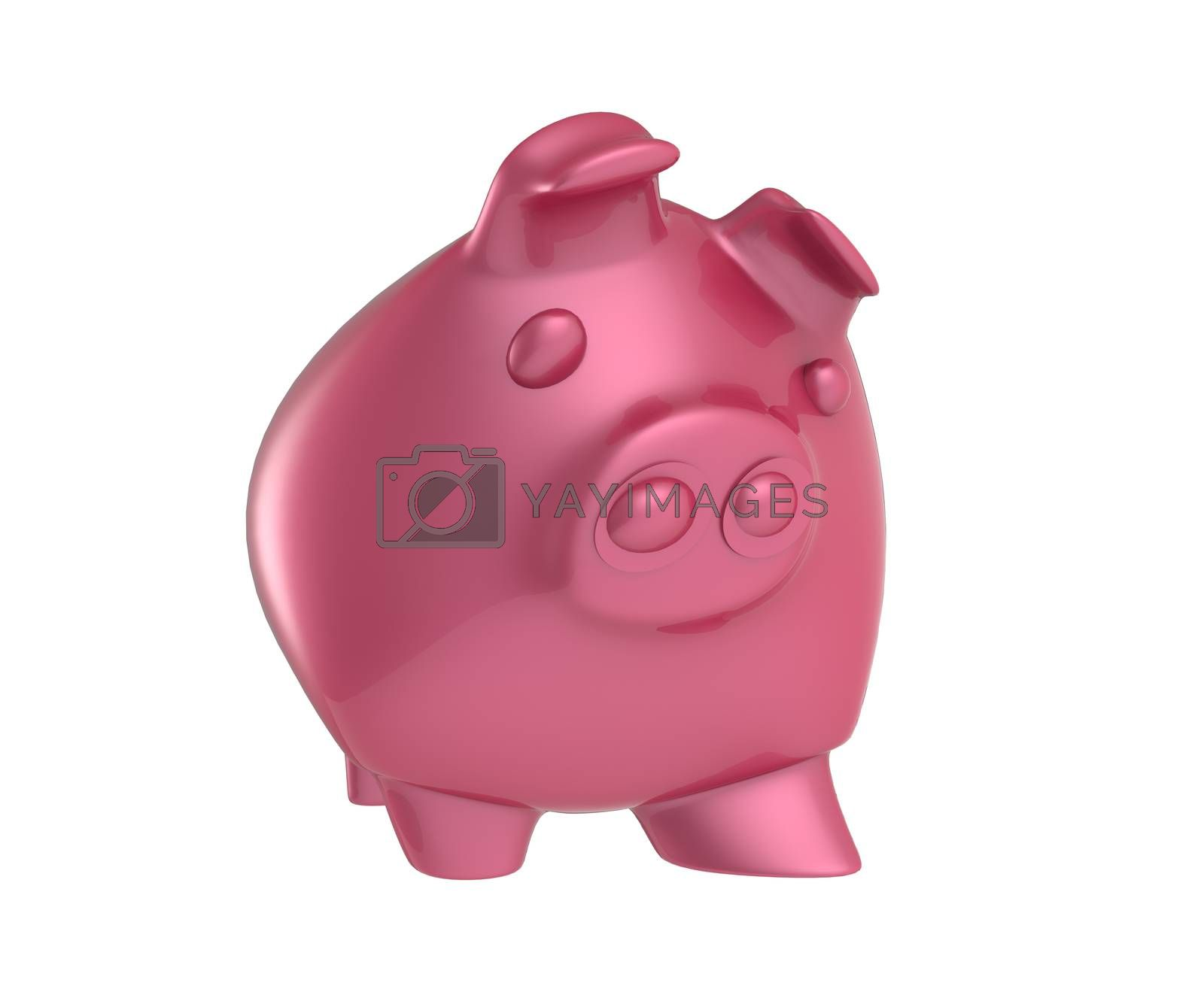Royalty free image of pink piggy bank 3d render  by everythingpossible