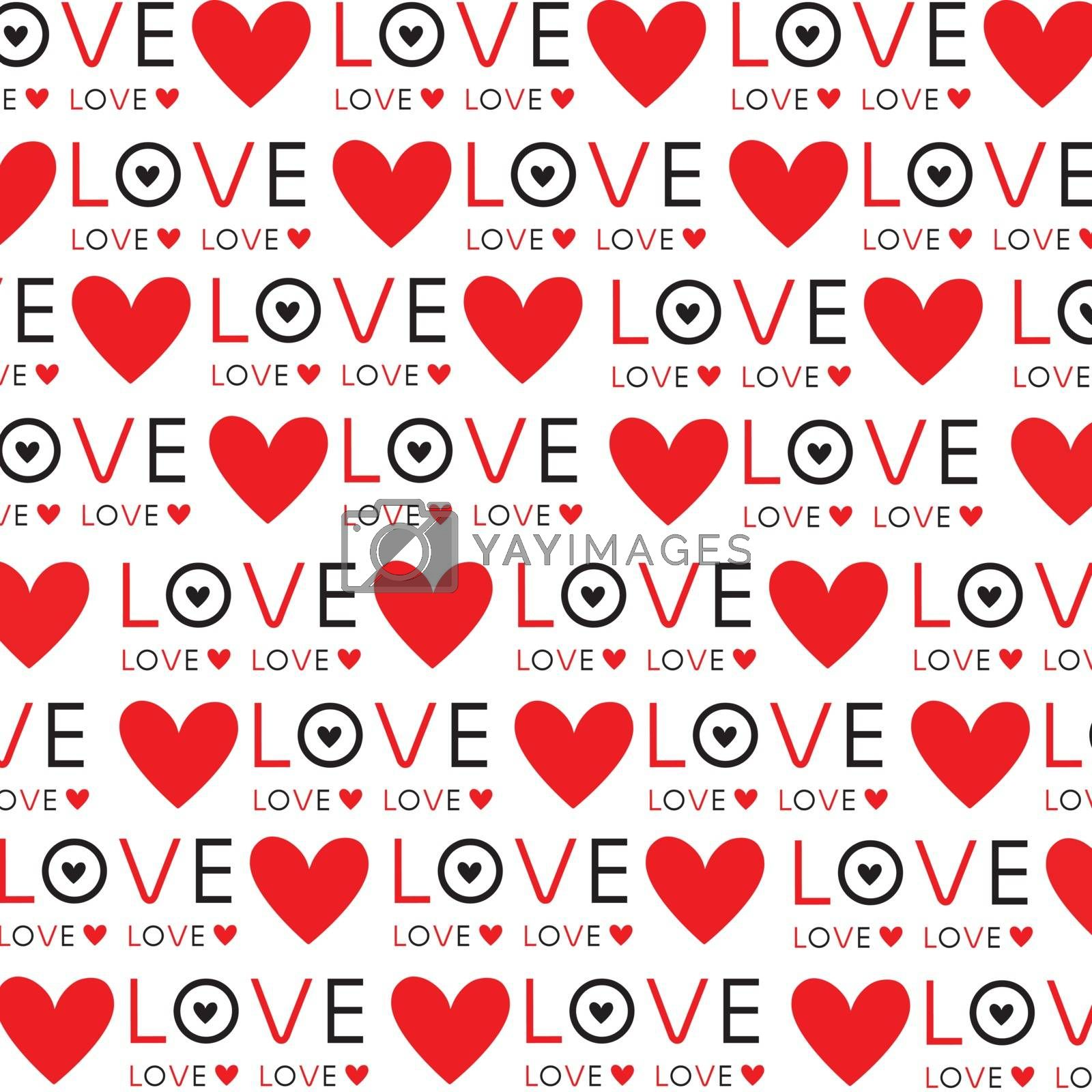 Red Heart and Love in Valentine's Day Wallpaper Background vector