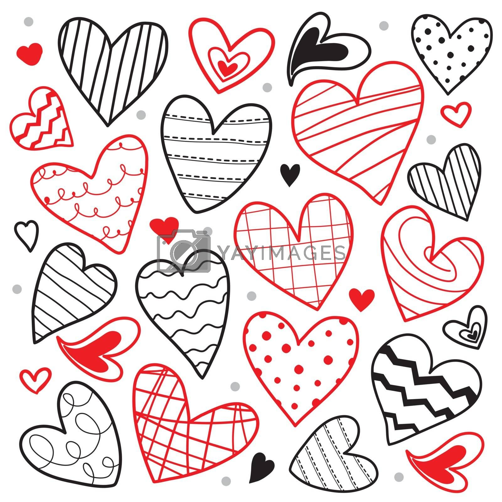 Royalty free image of Collection of Draw Heart Love element icon and symbol vector by Ienjoyeverytime