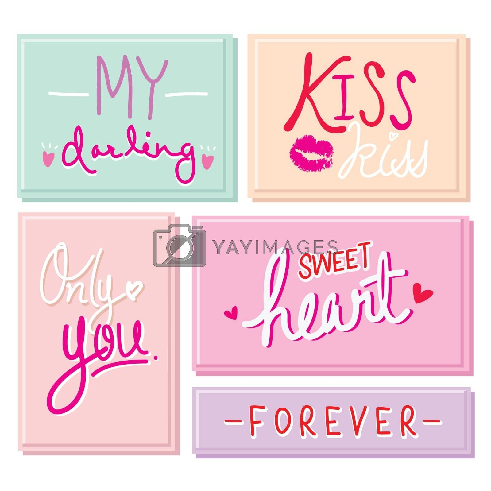 Heart and Love element icon and symbol in Valentine's Day vector