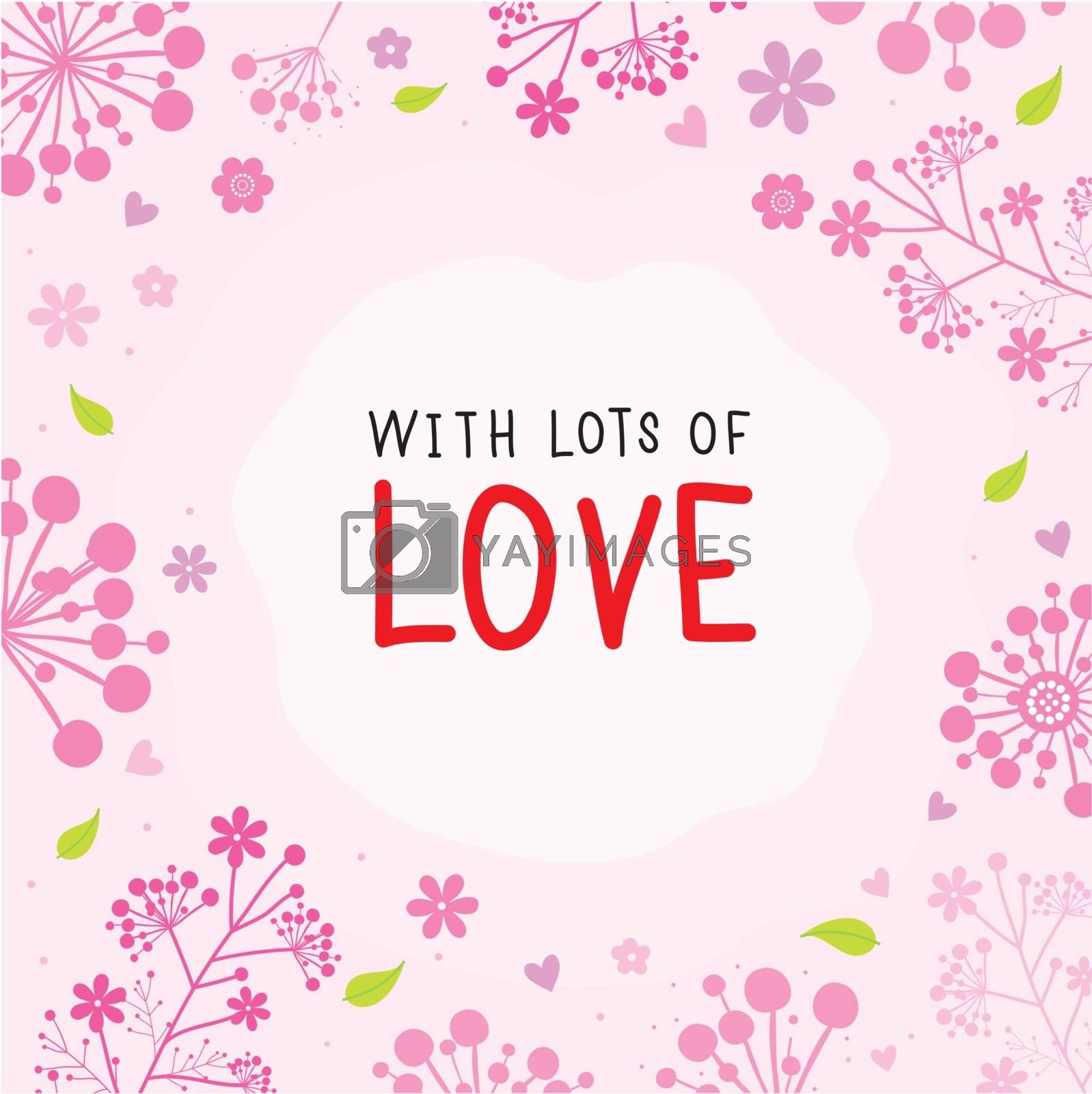 Flower and Love element in Valentine's Day vector