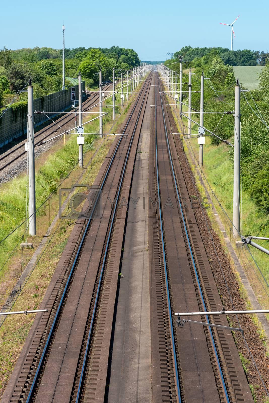 Two highspeed railroad tracks seen in Germany