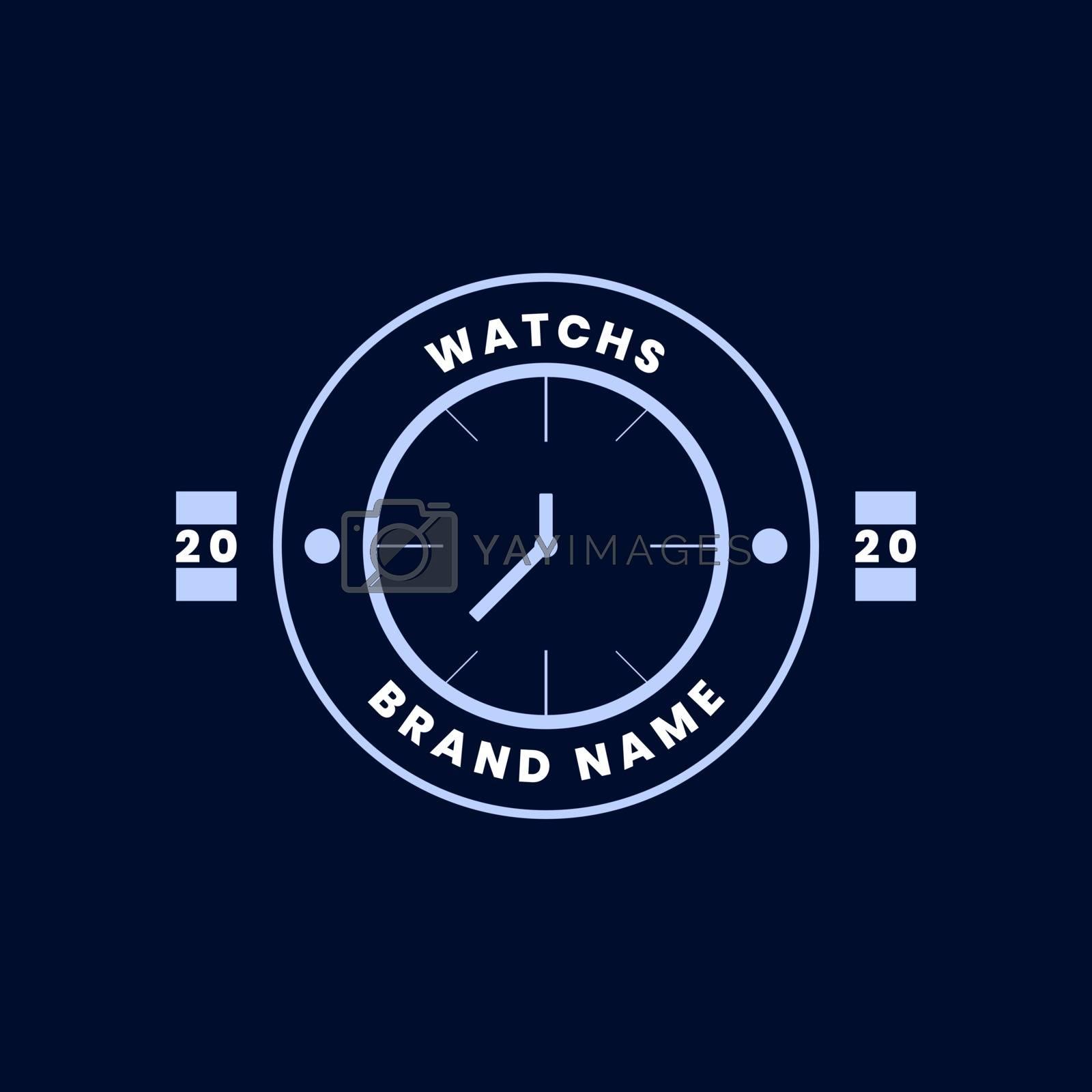 flat badge logo design. watch brand logo. modern and vintage styles by arsyadee