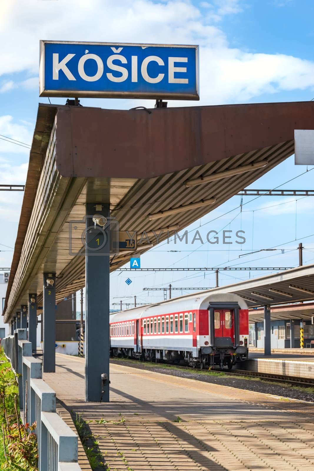 KOSICE, SLOVAKIA – MAY 1 2019: Second class coach (car) still  by Luboskova