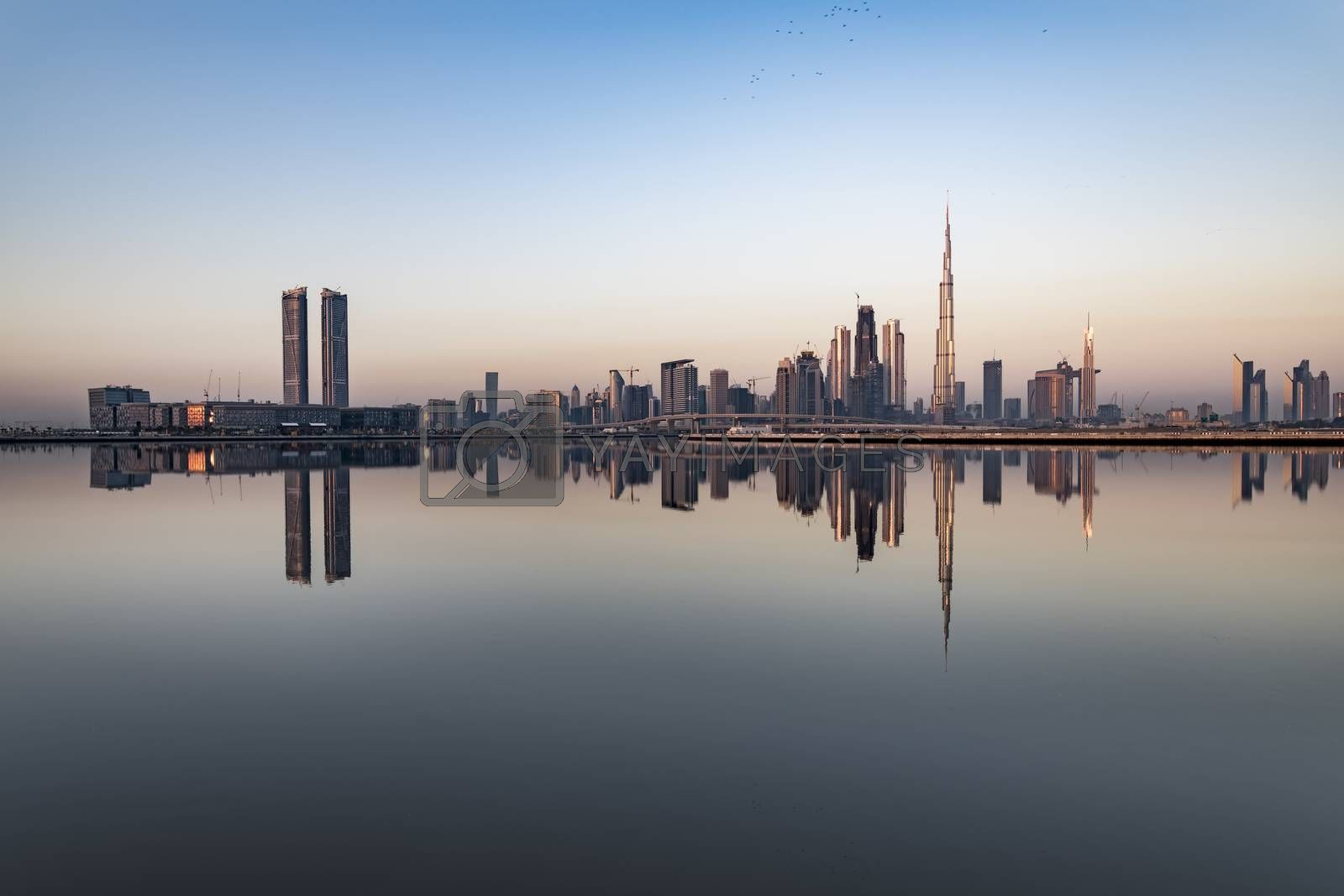 Royalty free image of Dubai skyline early morning, UAE by GABIS