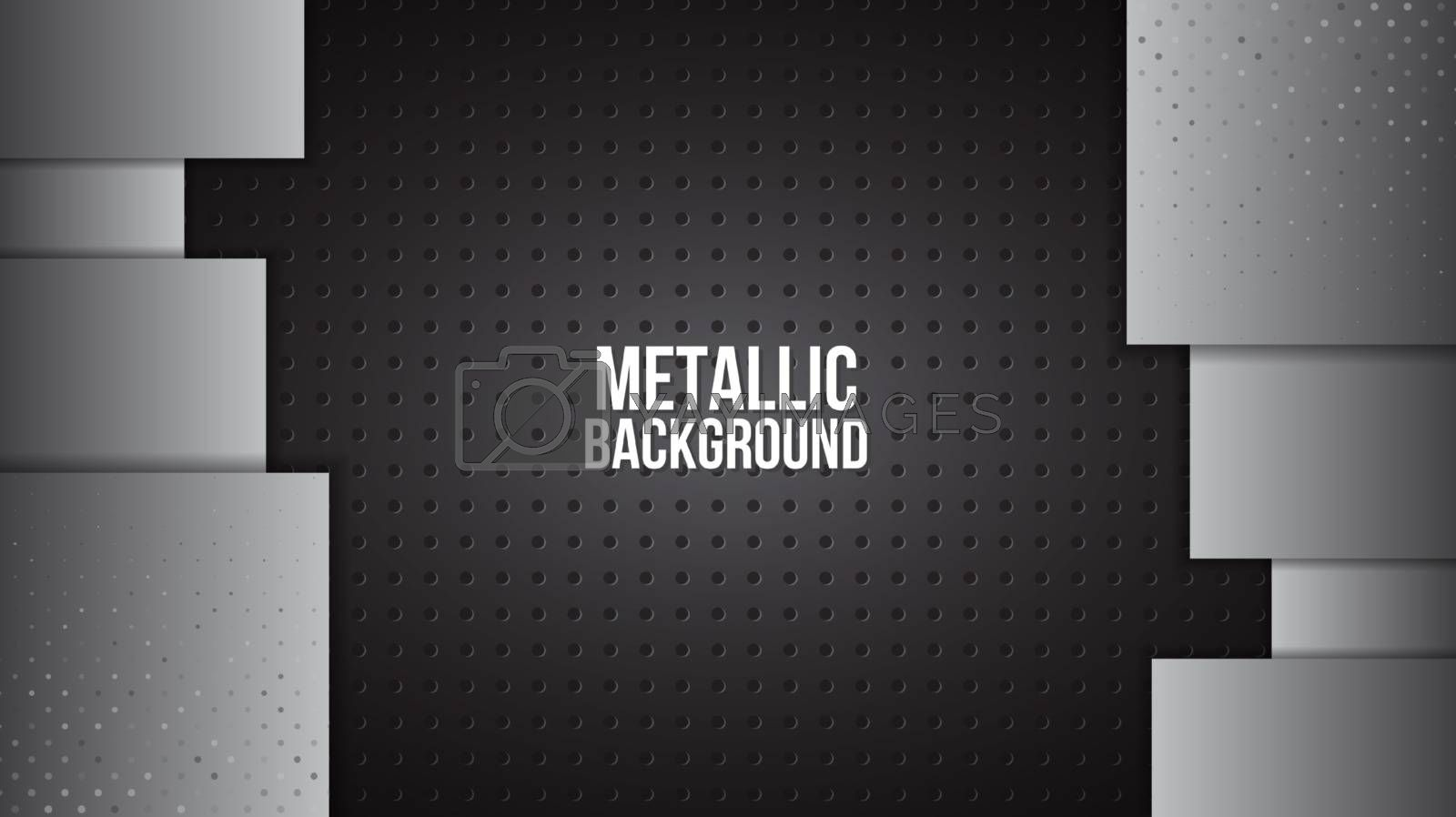 Metal background texture aluminium steel plates abstract design vector template.