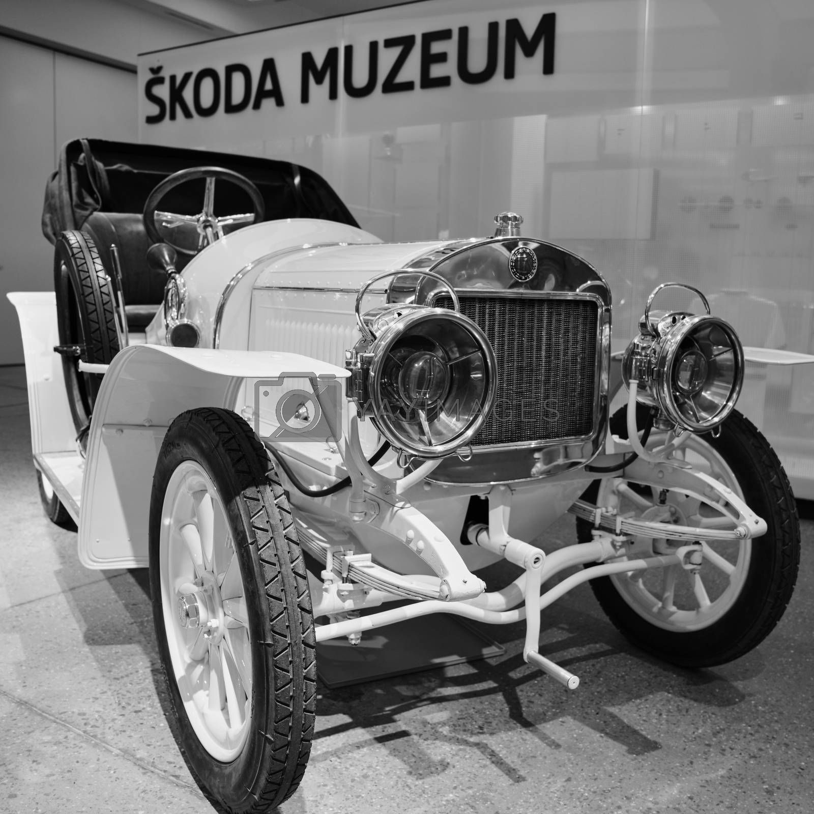 Mlada Boleslav/Czech Republic - January 6, 2019: Skoda Auto Museum, Automobile museum presents the history of the company Skoda and Laurin & Klement