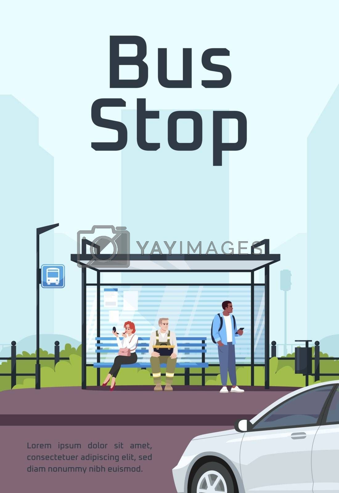 Bus stop poster template by bsd