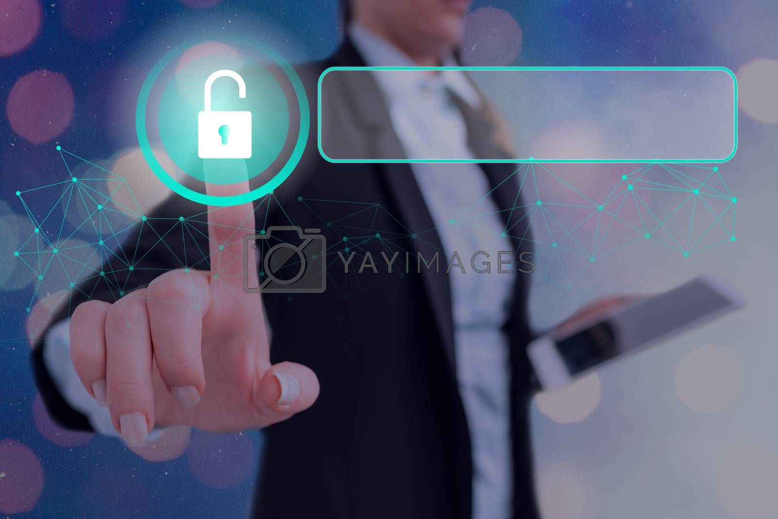 Graphics Padlock For Web Data Information Security Application System