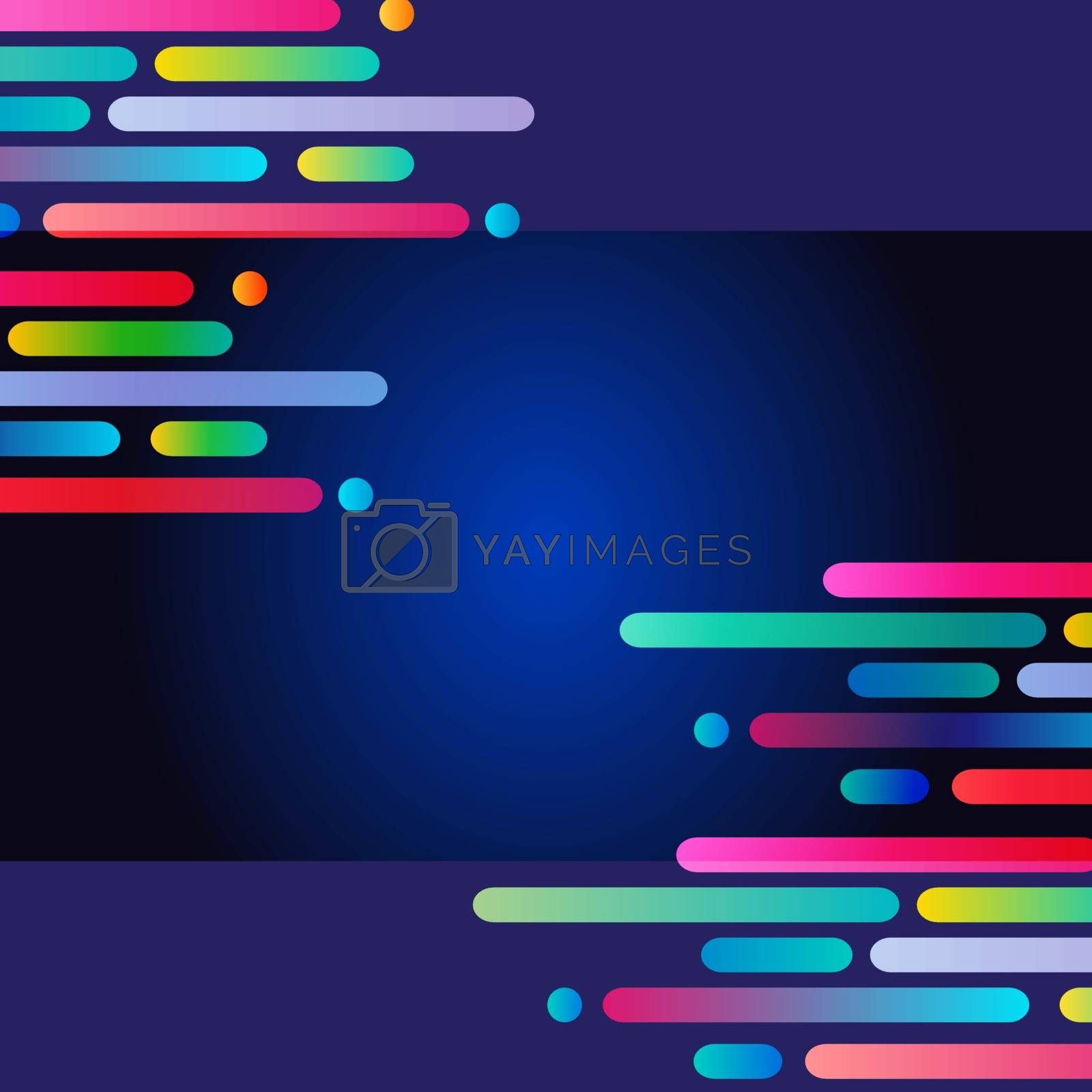 Abstract striped background. Vector format