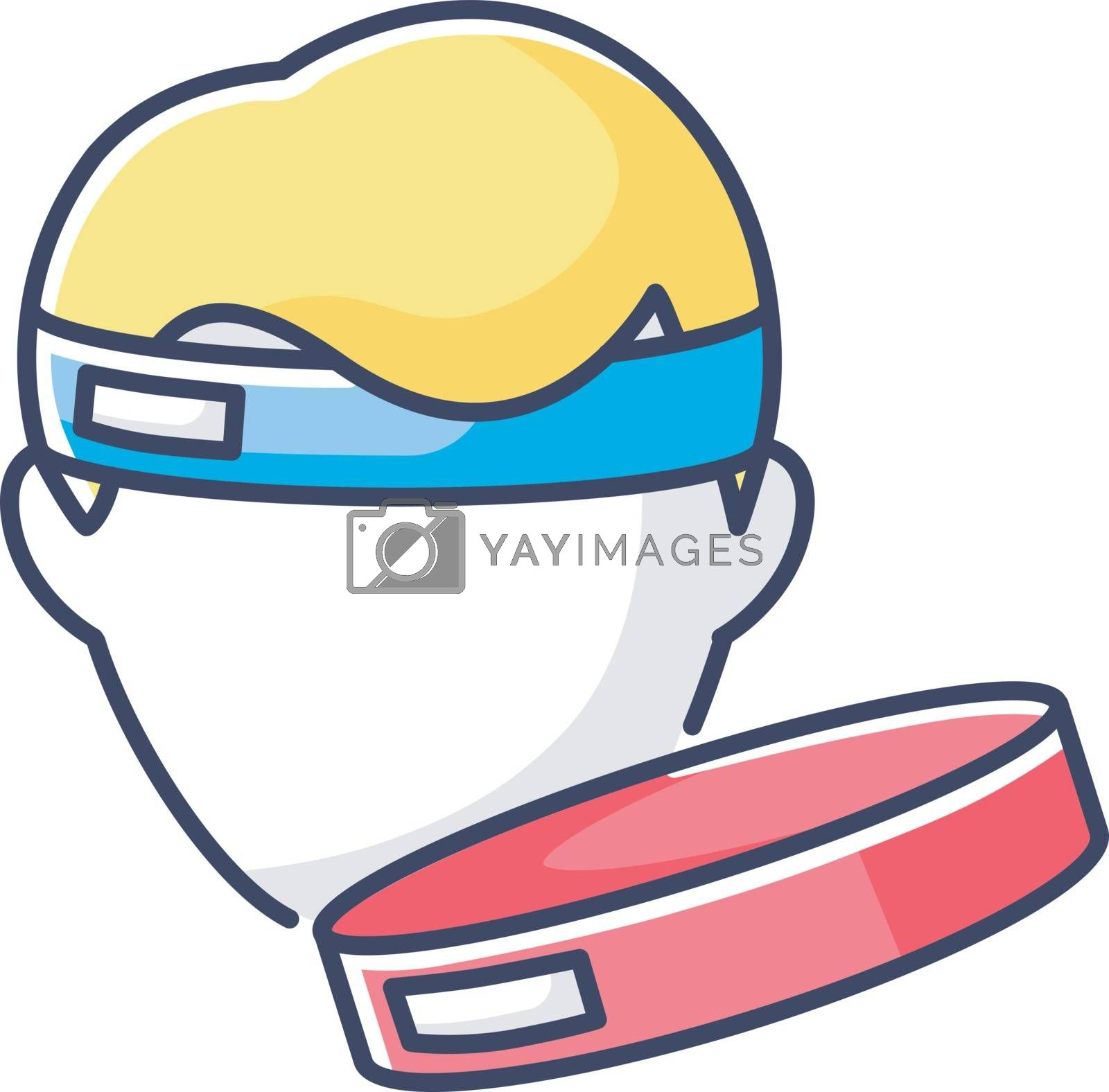Workout headband RGB color icon. Sportswear for fitness training. Gym equipment. Sportive headwear for sweat protection. Sweatband isolated vector illustration