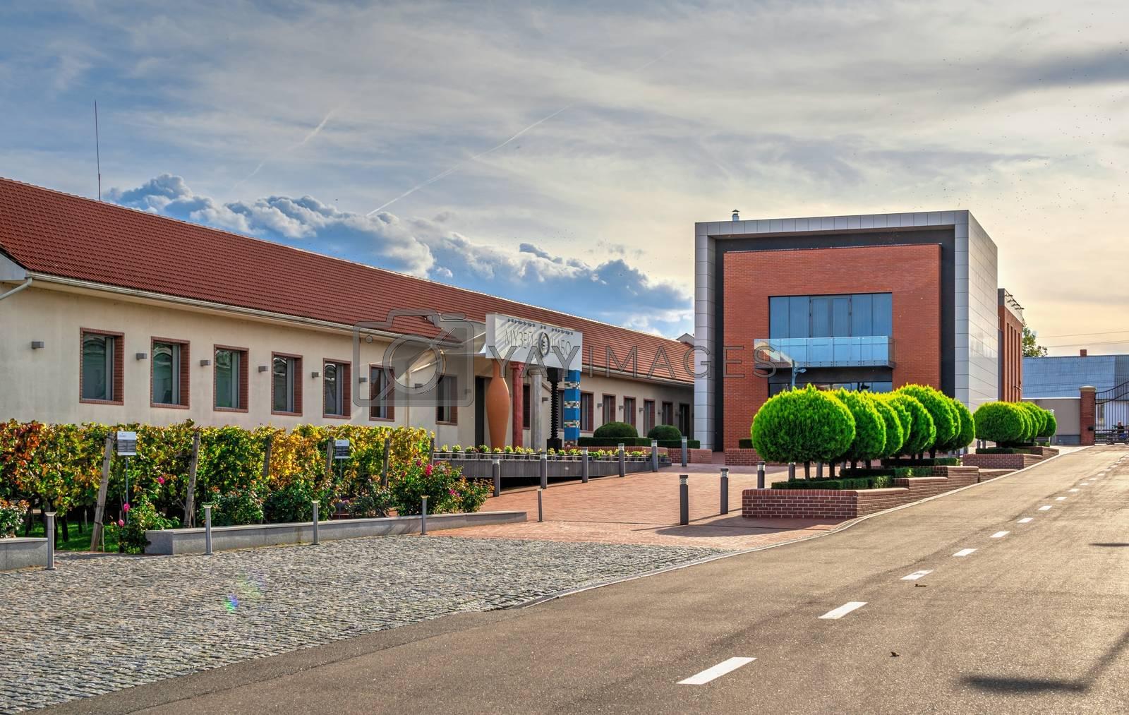 Shabo, Ukraine 09.29.2019. Museum of Wine Culture in the Shabo winery, Odessa region, Ukraine